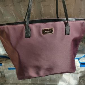 Kate Spade New York wine red Nylon Tote